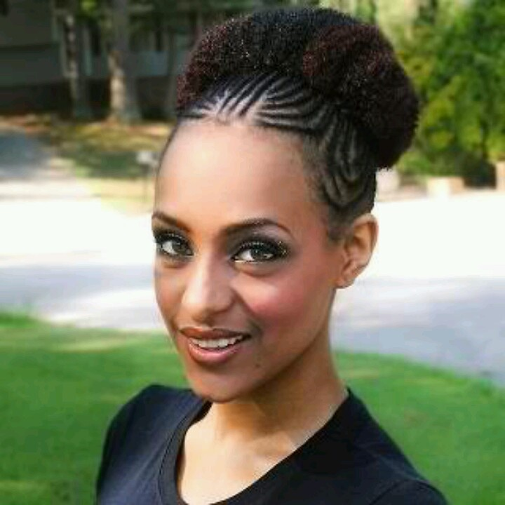 how to get nappy hair style cornrow puff nappy hair style ideas 6587