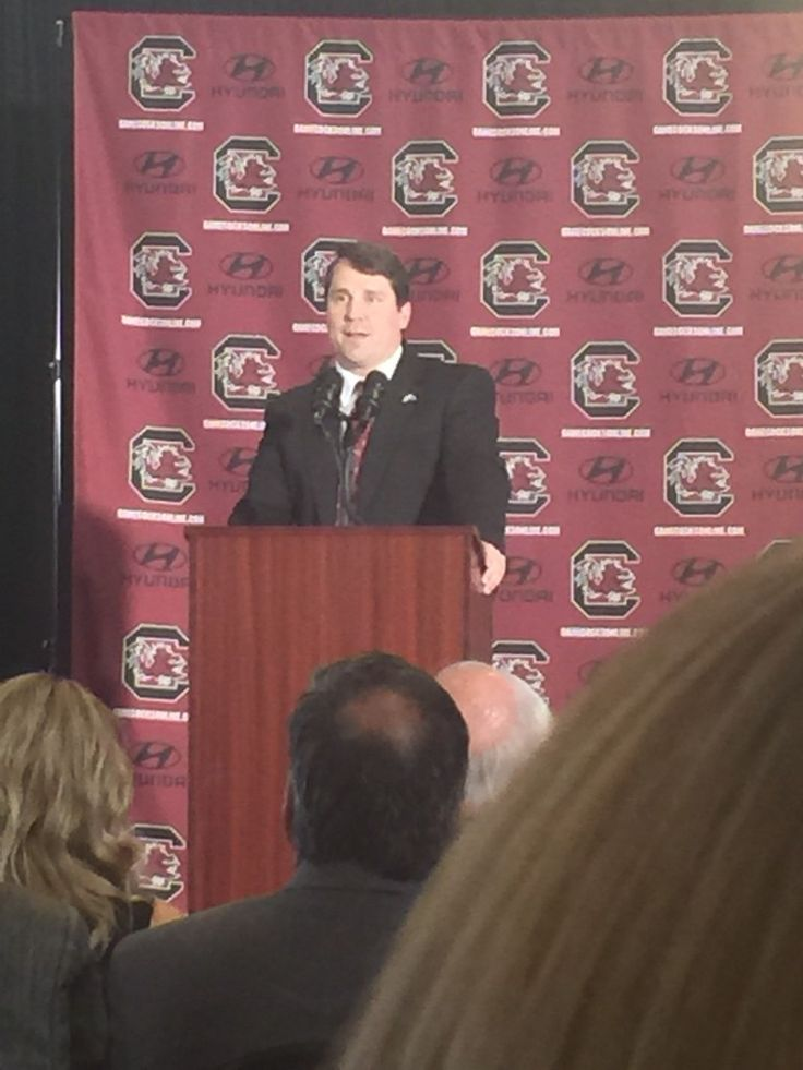Will Muschamp was formally introduced this morning as South Carolina's new head coach in Columbia. Ray Tanner is satisfied with the hire