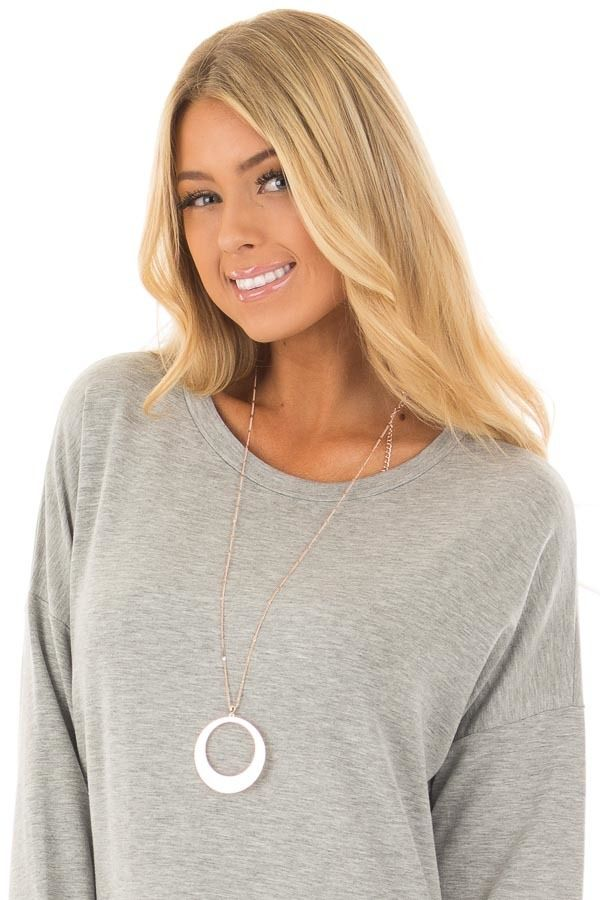 Lime Lush Boutique - Rose Gold Detailed Chain Necklace with Rounded Pendant, $29.99 (https://www.limelush.com/rose-gold-detailed-chain-necklace-with-rounded-pendant/)