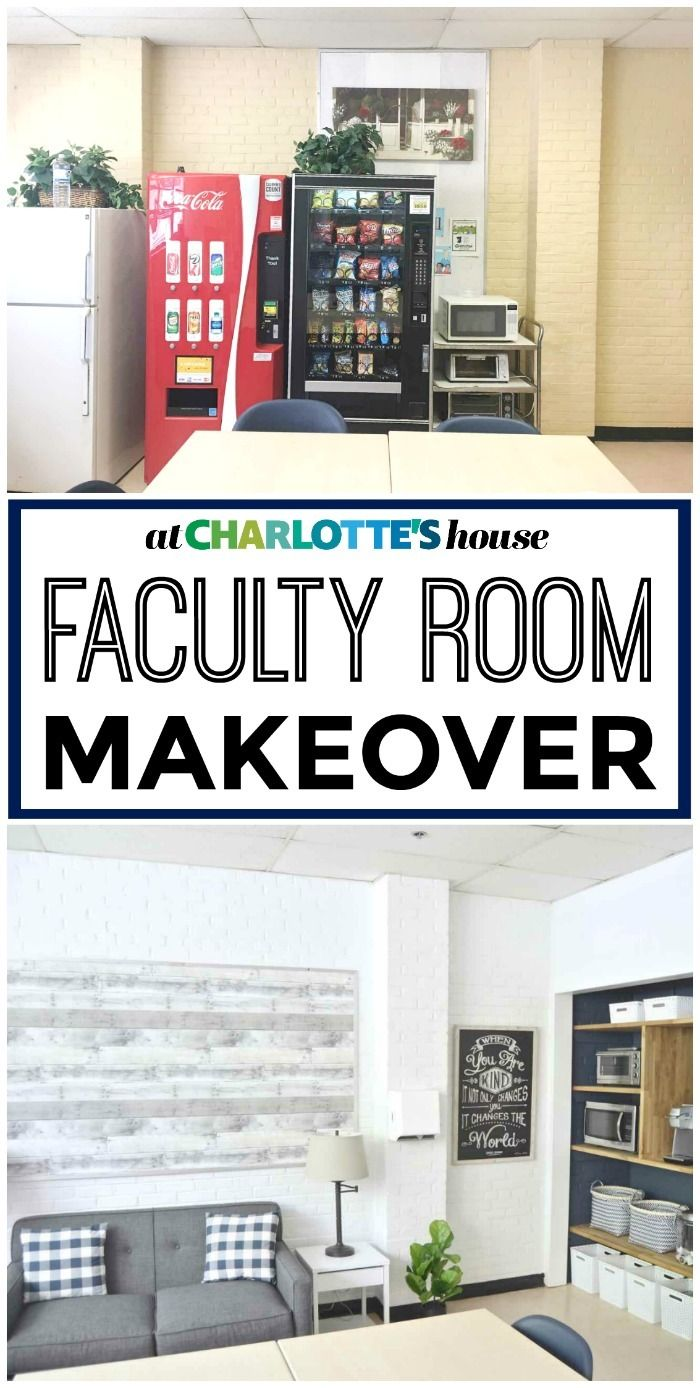 When Charlotte heard the faculty room at her local school needed a makeover, she jumped on the opportunity to help. We were honored to help her create a beautiful, functional space for these hard working teachers! Watch to see WHOLE transformation.