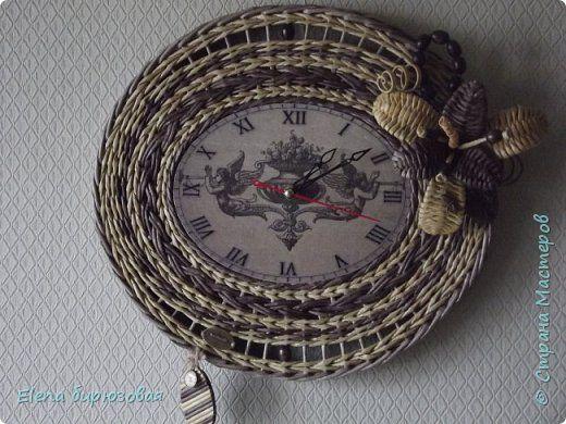 Декор предметов Интерьер Плетение Тик-так часики   Бумага газетная Трубочки бумажные фото 23