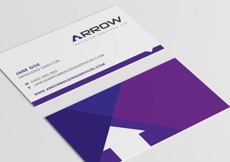 Arrow Business Card Design | Graphic Design | Oraco Marketing