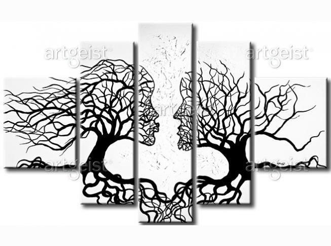 Drzewa są inspirującym motywem w malarstwie - nas zainspirowały do stworzenia tego romantycznego i nastrojowego obrazu #drzewa #abstrakcje #obraz #obrazy #obrazyabstrakcyjne #dekoracje #homedecor #ozdoby #dekoracjeścienne #home