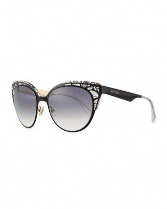 87d2405c2b7 Estelle Lace-Pattern Cat-Eye Sunglasses