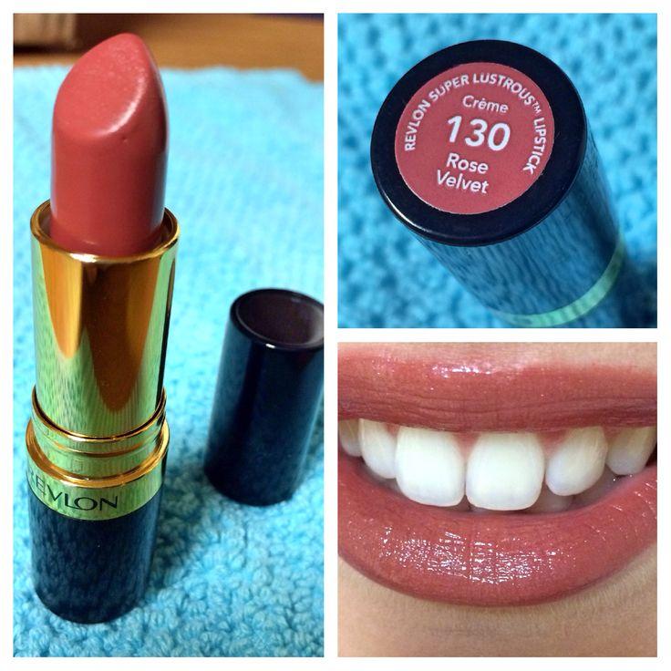"""Revlon Super Lustrous Lipstick in """"Rose velvet"""". #Revlon #lipstick"""