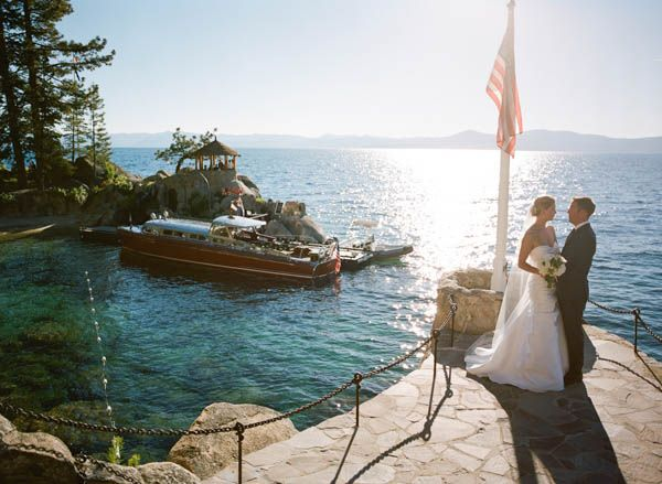 Lakefront wedding ideas from this real Lake Tahoe wedding at Thunderbird Lodge from Josh Gruetzmacher
