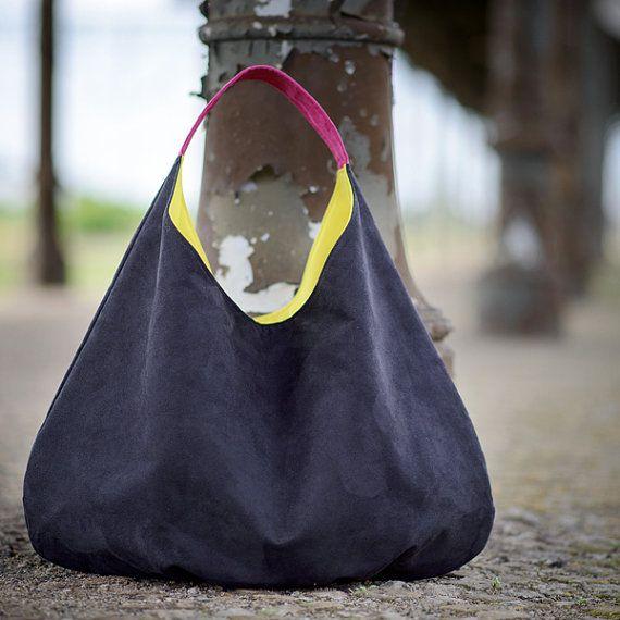 Übergroße Hobo Tasche große stopfbare schwarze Tasche von bandabag