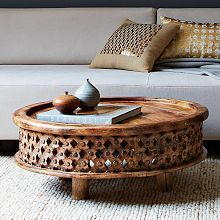 Carved Wood Coffee Table: Wood Coffee Tables, Westelm, Side Tables, Living Rooms, Carvings Woods, Woods Coffee Tables, Coff Tables, Furniture, West Elm