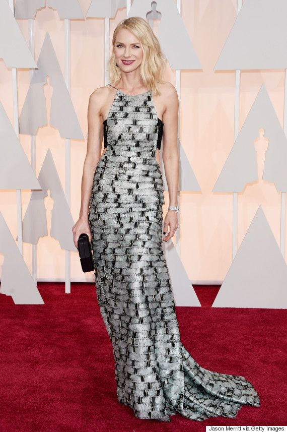 Naomi Watts' Oscar Dress 2015 Includes A Bandeau And Lots Of Shimmer