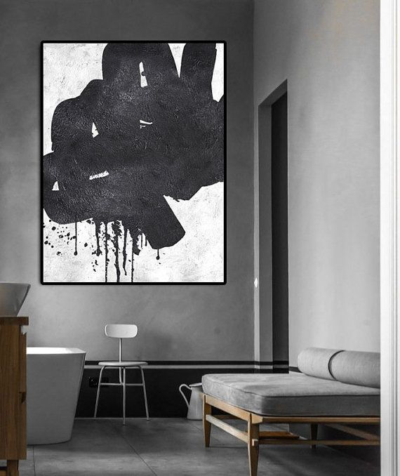 Extra Large Abstract Painting On Canvas Textured by FabuArtDecor