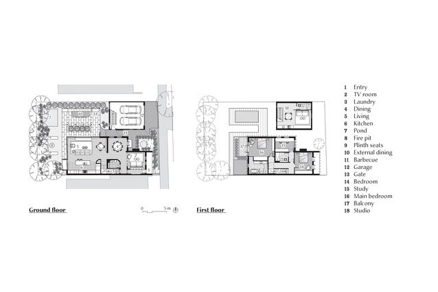 Plans of Annandale Residence by Jackson Teece.