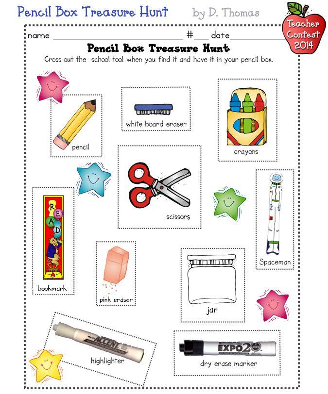 The Pencil Box Treasure Hunt Is A Fun Idea For Back To