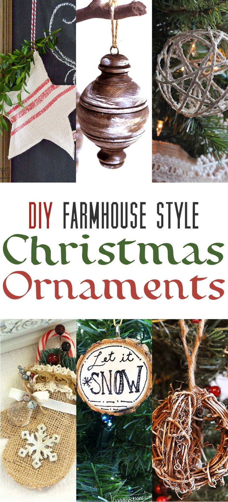 All of you Farmhouse Lovers out there are going to flip for this collection of DIY Farmhouse Style Christmas Ornaments! Sit back and ENJOY!