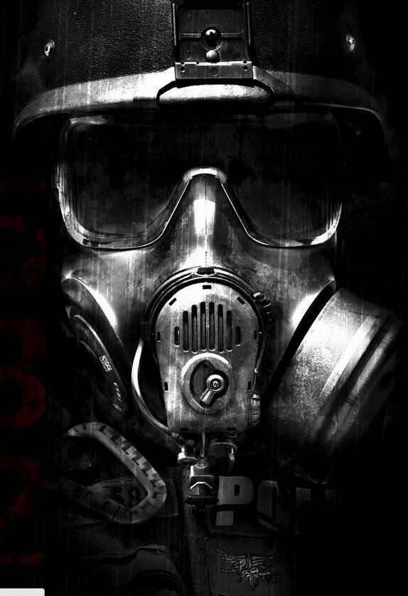 Another gas mask tattoo design