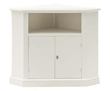 Porta tv ad angolo in tiglio Didi bianco, 96x80x63 cm