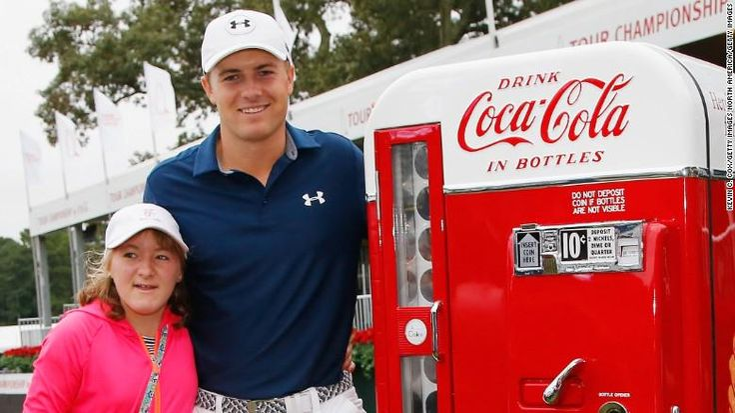 Jordan Spieth gets to celebrate FedEx Cup win with sister Ellie: http://cnn.it/1KFP4ia #CNNLivingGolf