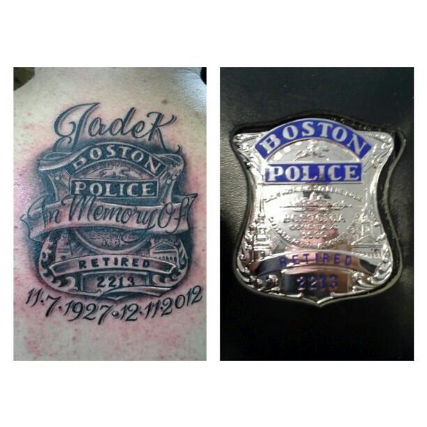 1000+ Ideas About Police Tattoo On Pinterest