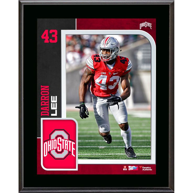 "Darron Lee Ohio State Buckeyes Fanatics Authentic 10.5"" x 13"" Sublimated Player Plaque - $23.99"
