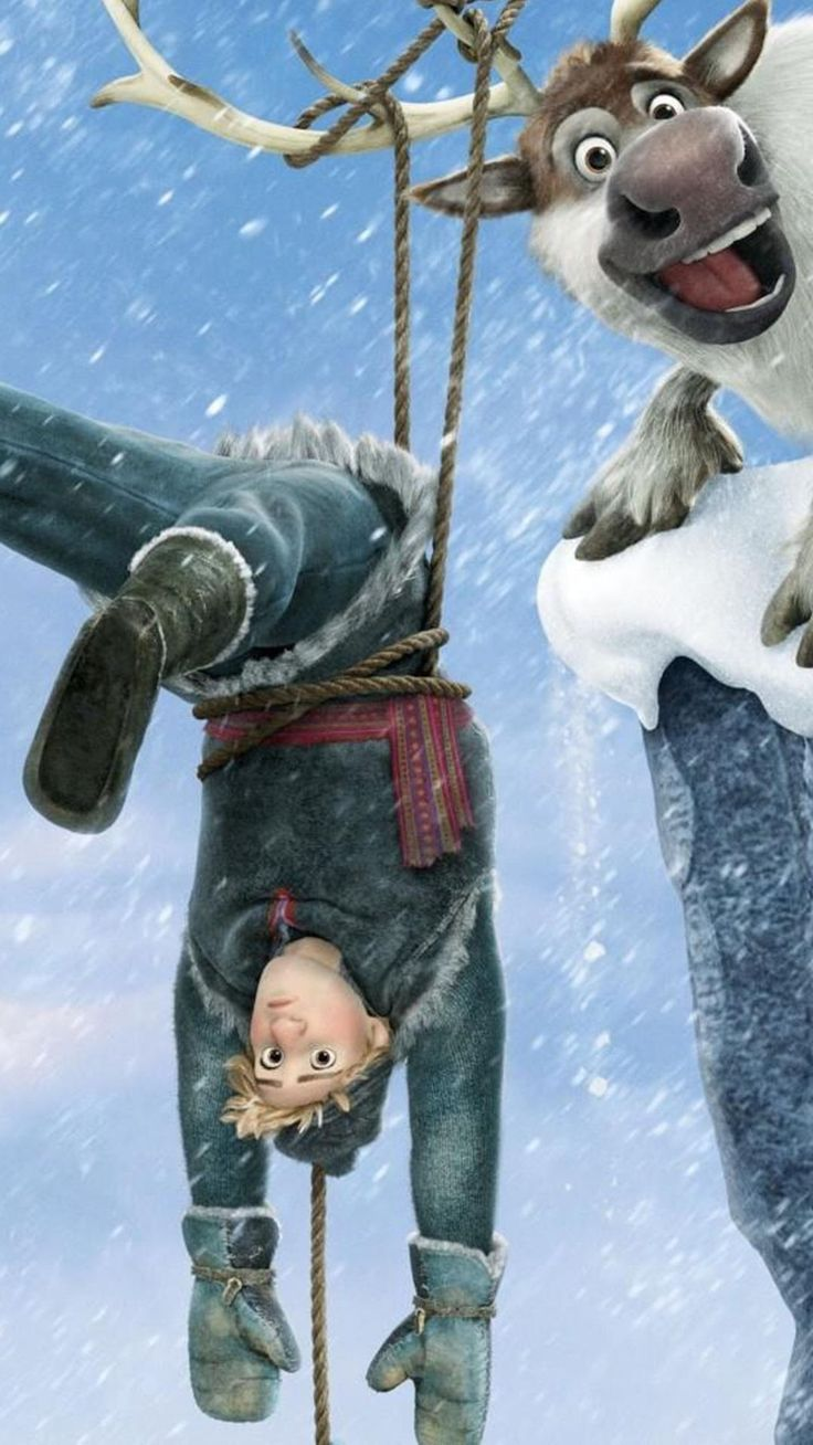 Kristoff Sven 2014 Christmas Frozen iPhone 6 Plus Wallpaper - Disney Movies #2014 #Christmas #Frozen