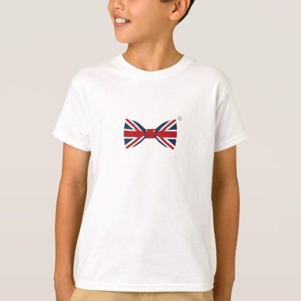 Kid' S Tee-shirt - Union Jack Bow Tie T-Shirt - diy cyo personalize special unique