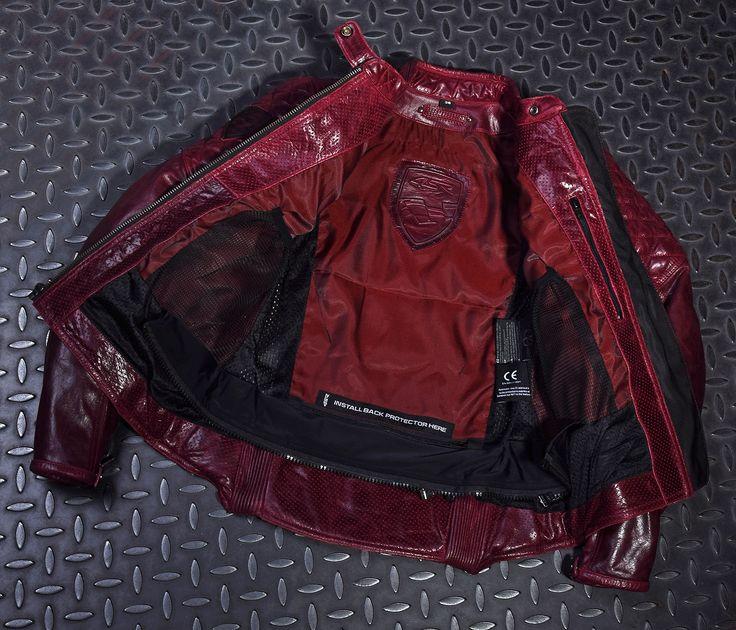 4SR women's biker jacket Scrambler Lady Wine