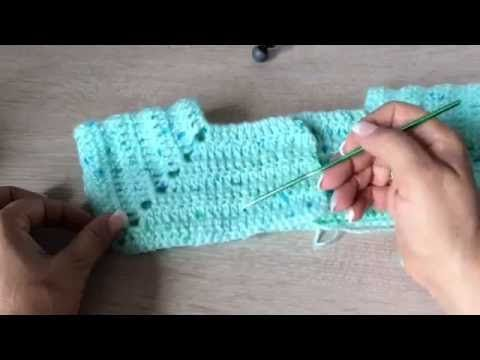 Abriguito minicolors tejido en gancho fácil y rápido - tejiendo con Laur...