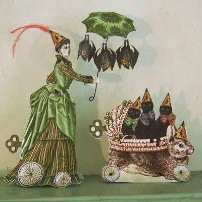 Shabby Chic Halloween Decorations & Printables