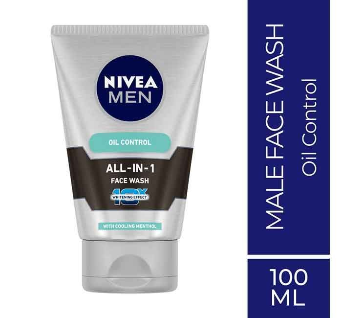 Nivea Men All In One Face Wash 100ml 81775 Reduces Dark Spots Acne And Excessive Oiliness With Regular Wash It Gives Refreshing And Cool Feeling On Your Ski
