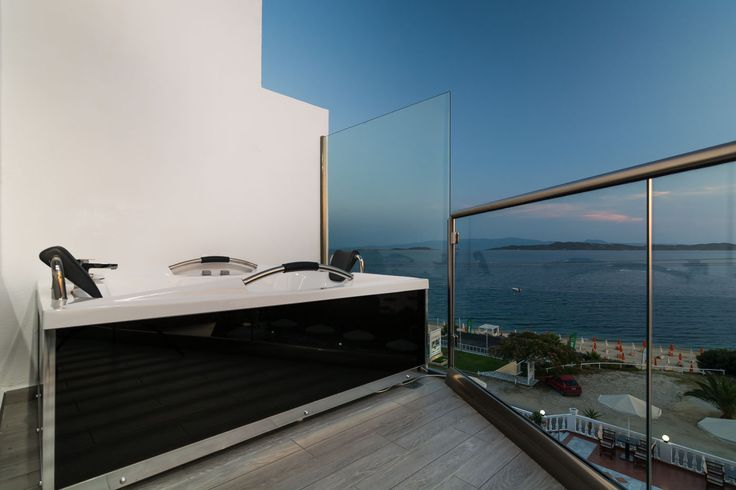 Jacuzzi on balcony for deluxe sea view suites