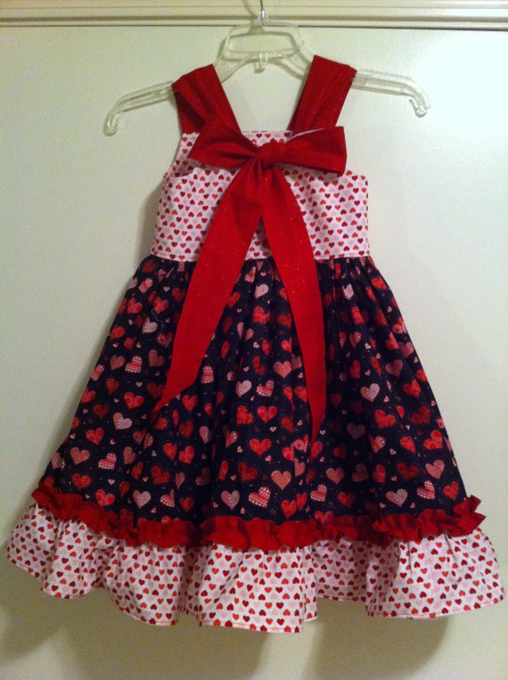 Girls heart dress valentine s day size clothes for