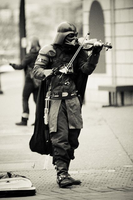 Darth Vader plays the violin. S)