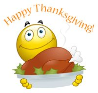 Happy Thanksgiving Smiley - Facebook Symbols and Chat Emoticons