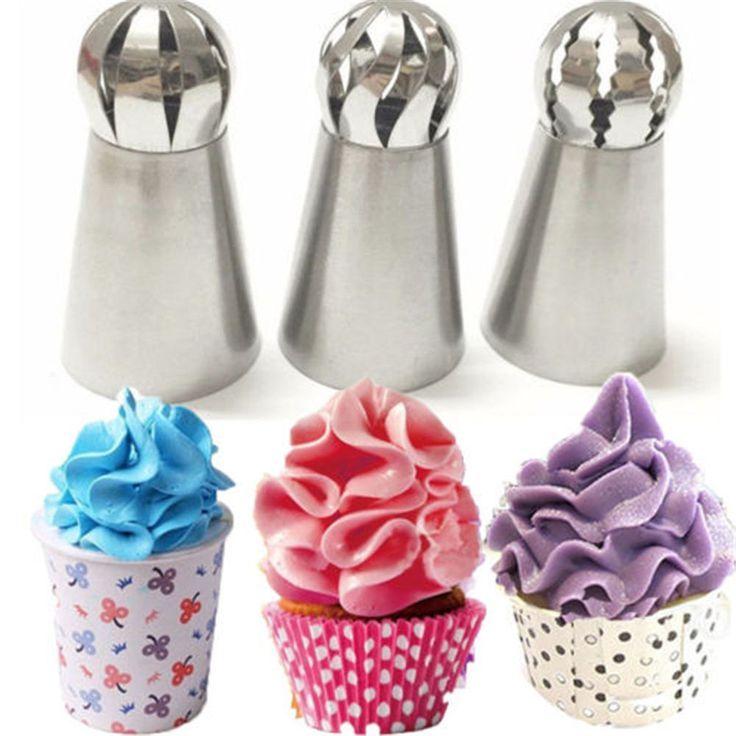 3 Stücke Russische Blume Kuchen Zuckerglasur-friedliche Düsen Dekorieren
