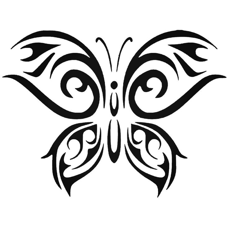 tribal butterfly 3 vinyl decal sticker