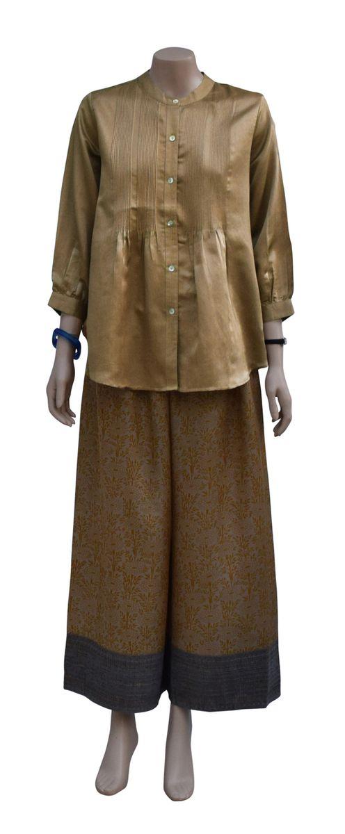Dezinery - Pure Satin Silk shirt - Golden Fawn, $150.00 (http://www.dezinery.com/pure-satin-silk-shirt-golden-fawn/)