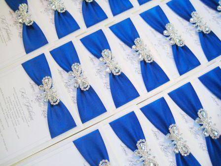 royal blue butterfly wedding invitations