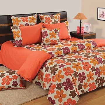 Stylish Orange Duvet Covers, Comforters & Quilts Online in Single/Double Size- Home Drape