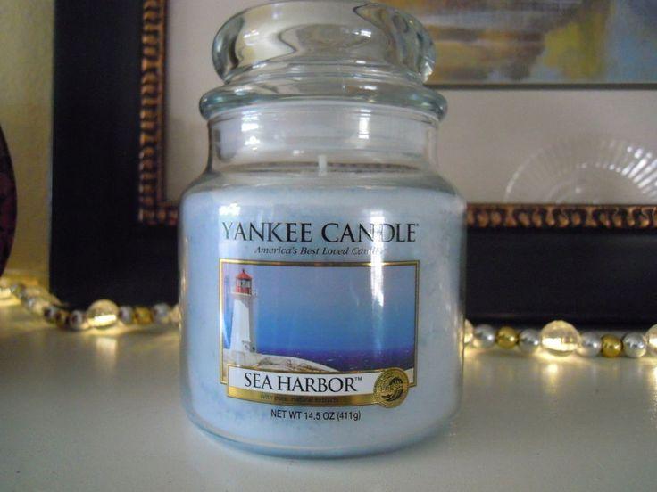 Sea Harbor Yankee Candle 14.5 oz Ocean Citrus Jasmine 65 to 90 hour burn #YankeeCandle #Other
