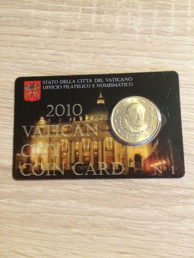 Vatican 2010 50 cents euro Vatican 2010 première coincard de la série  tirage:12000 #collection #monnaie #numismatique