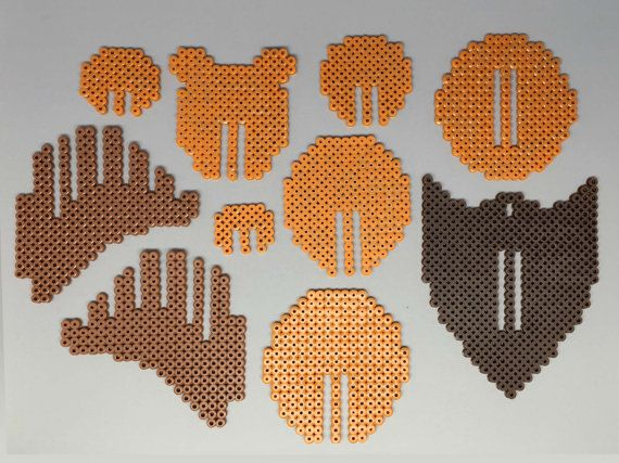 Bear Head 3D Perler Bead Puzzle Wall Decor par Pixelixir