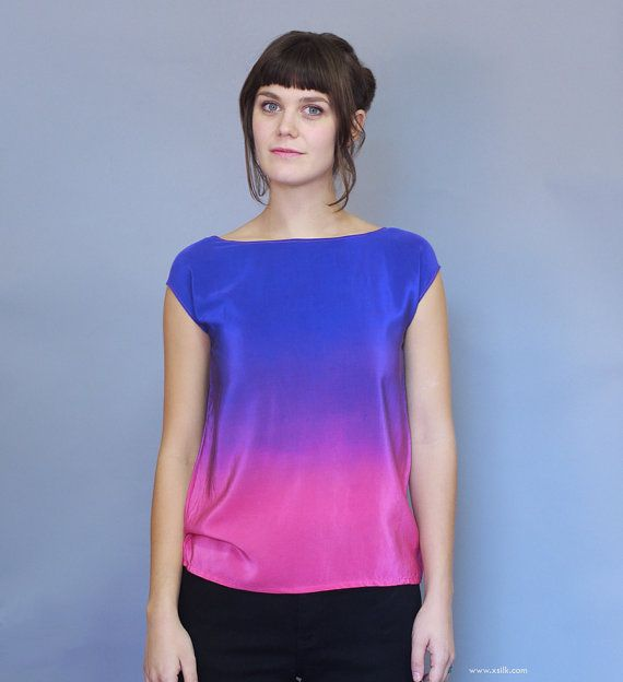 Hand Dyed Silk Top Ombre Silk. An Ode to Rothko. by XSILK on Etsy