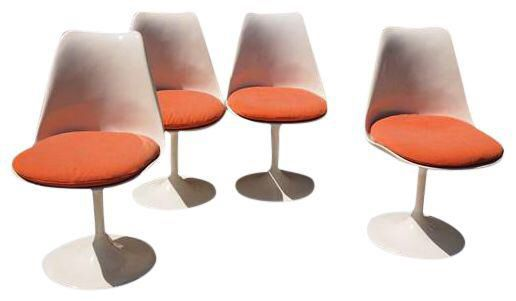Eero Saarinen for Knoll Chairs - Set of 4 on Chairish.com