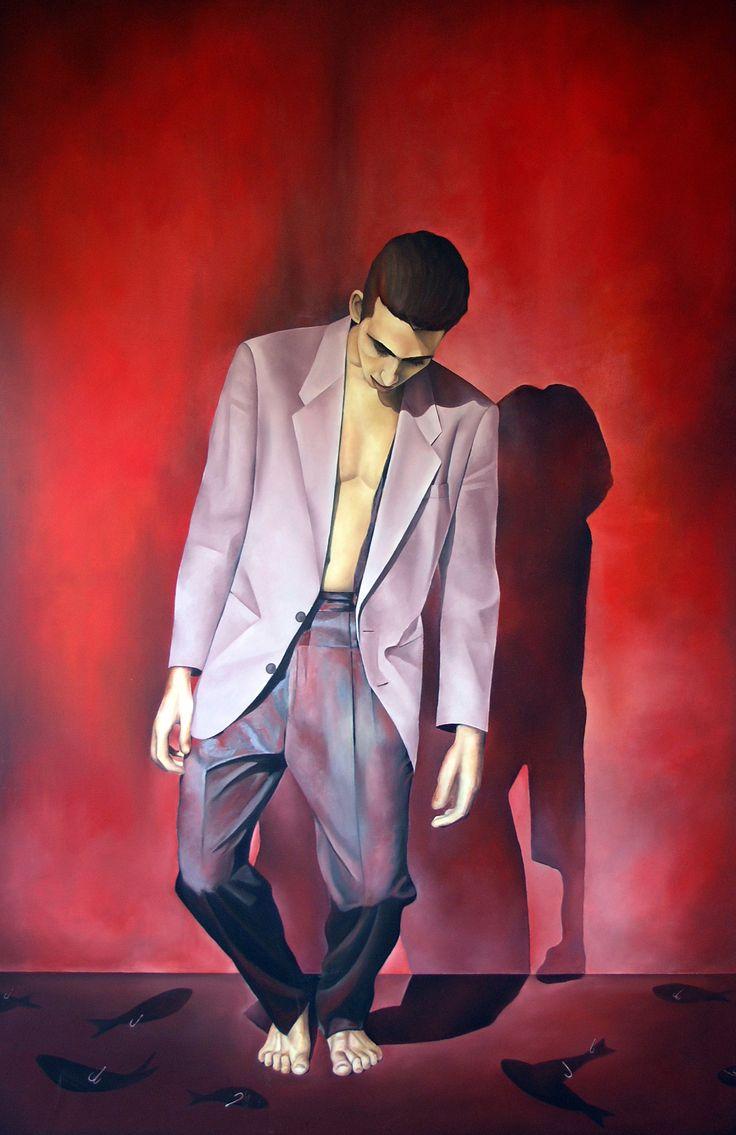 Freefall 2 Triptych Oil on linen 190cm x 360cm #elias_kolivas #oilpainting #art