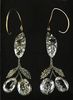 earrings that Empress Alexandra Feodorovna wore at her wedding.