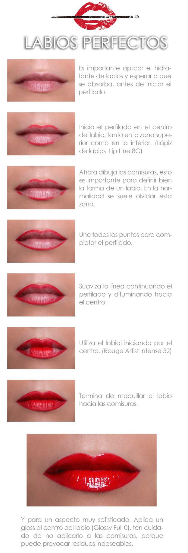 Un paso a paso para unos labios perfectos