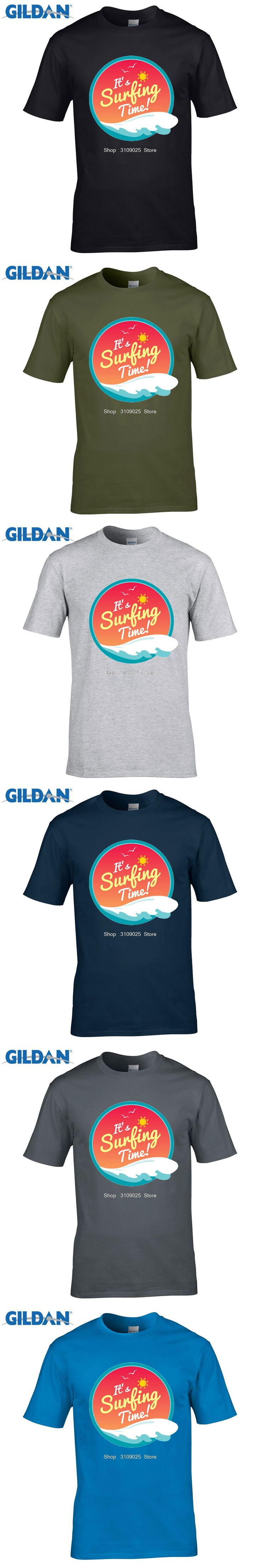 GILDAN customised t-shirts Summer Holiday   Short Sleeve Clothes Sunshine  Tree T-shirts Surffing Trooper T Shirts
