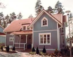 The house model Ainola (called after the wife of the Finnish composer Jean Sibelius) made by the construction company Kannustalo, founded and situated in Kannus