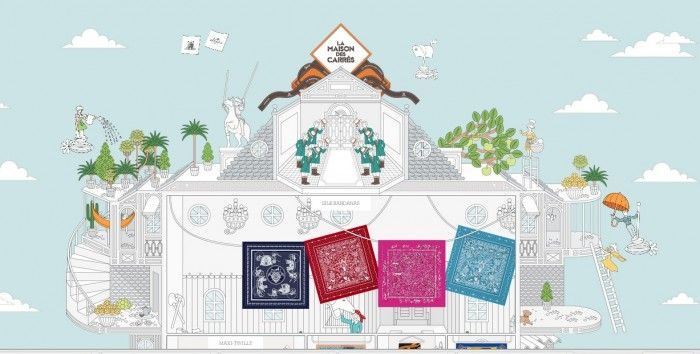 Hermés Scarves Online Shop Inspired by Impossible Physical Store