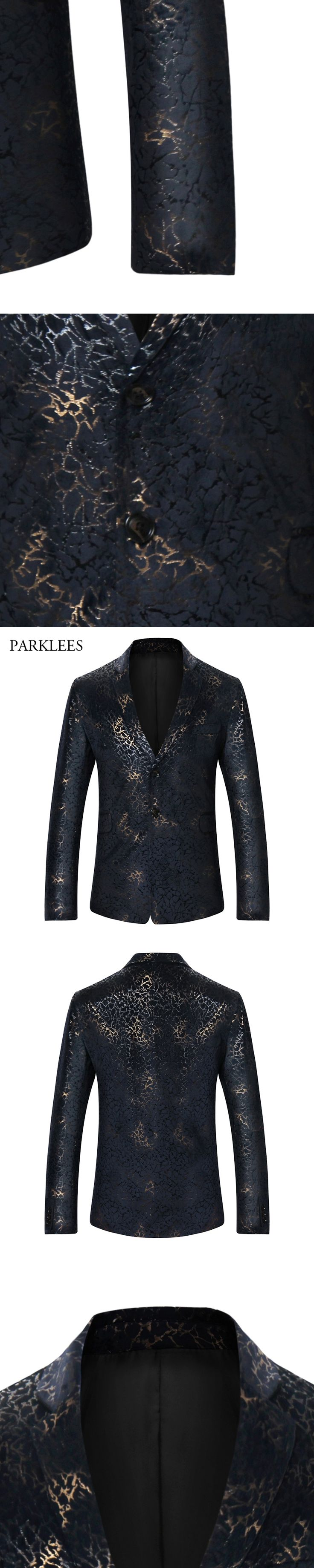 Wedding Blazer Men Blazer Hombre 2017 Luxury Leopard Print Blazers Men Long Sleeve Slim Fit Single Breasted Mens Suit Jacket 2XL