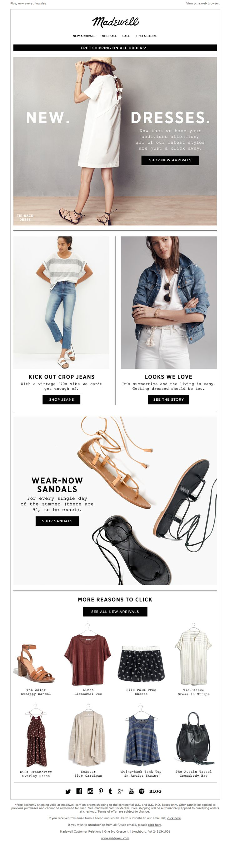 Madewell Email